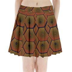Psychedelic Pattern Pleated Mini Skirt