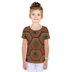 Psychedelic Pattern Kids  One Piece Tee