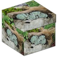 Plant Succulent Plants Flower Wood Storage Stool 12