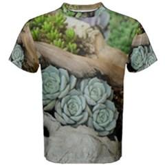 Plant Succulent Plants Flower Wood Men s Cotton Tee