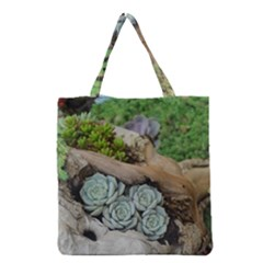 Plant Succulent Plants Flower Wood Grocery Tote Bag