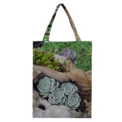 Plant Succulent Plants Flower Wood Classic Tote Bag