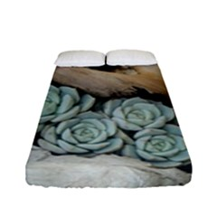 Plant Succulent Plants Flower Wood Fitted Sheet (Full/ Double Size)