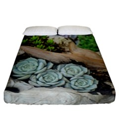 Plant Succulent Plants Flower Wood Fitted Sheet (California King Size)