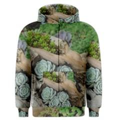 Plant Succulent Plants Flower Wood Men s Zipper Hoodie