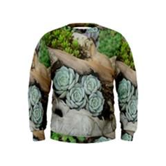 Plant Succulent Plants Flower Wood Kids  Sweatshirt