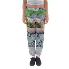 Plant Succulent Plants Flower Wood Women s Jogger Sweatpants