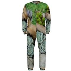 Plant Succulent Plants Flower Wood OnePiece Jumpsuit (Men)
