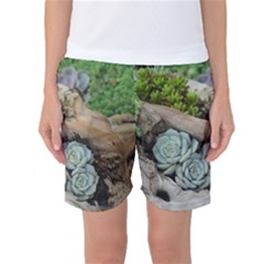 Plant Succulent Plants Flower Wood Women s Basketball Shorts