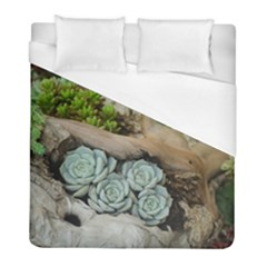 Plant Succulent Plants Flower Wood Duvet Cover (Full/ Double Size)