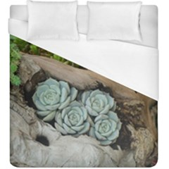 Plant Succulent Plants Flower Wood Duvet Cover (King Size)