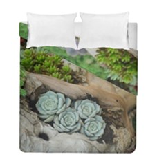 Plant Succulent Plants Flower Wood Duvet Cover Double Side (Full/ Double Size)