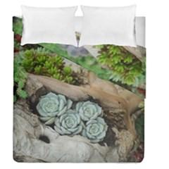 Plant Succulent Plants Flower Wood Duvet Cover Double Side (Queen Size)
