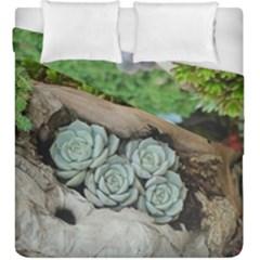 Plant Succulent Plants Flower Wood Duvet Cover Double Side (King Size)