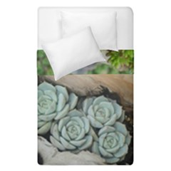 Plant Succulent Plants Flower Wood Duvet Cover Double Side (Single Size)