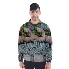 Plant Succulent Plants Flower Wood Wind Breaker (Men)