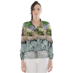 Plant Succulent Plants Flower Wood Wind Breaker (Women)