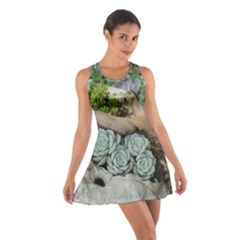 Plant Succulent Plants Flower Wood Cotton Racerback Dress