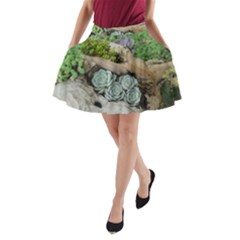 Plant Succulent Plants Flower Wood A-Line Pocket Skirt