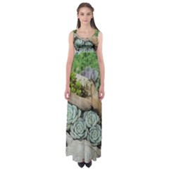 Plant Succulent Plants Flower Wood Empire Waist Maxi Dress