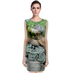 Plant Succulent Plants Flower Wood Classic Sleeveless Midi Dress