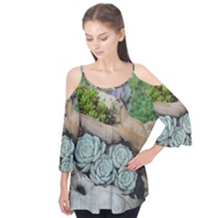 Plant Succulent Plants Flower Wood Flutter Tees