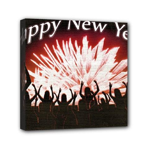 Happy New Year Design Mini Canvas 6  x 6