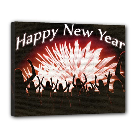 Happy New Year Design Canvas 14  x 11