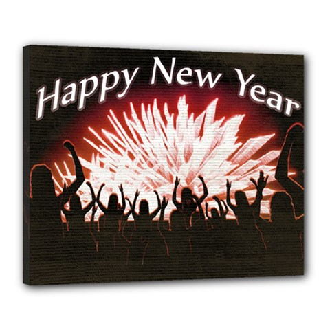 Happy New Year Design Canvas 20  x 16