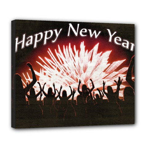 Happy New Year Design Deluxe Canvas 24  x 20