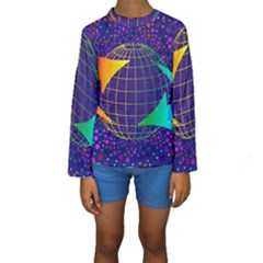Recycling Arrows Circuit Kids  Long Sleeve Swimwear