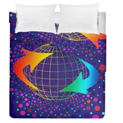 Recycling Arrows Circuit Duvet Cover Double Side (Queen Size)