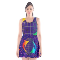 Recycling Arrows Circuit Scoop Neck Skater Dress
