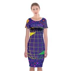 Recycling Arrows Circuit Classic Short Sleeve Midi Dress