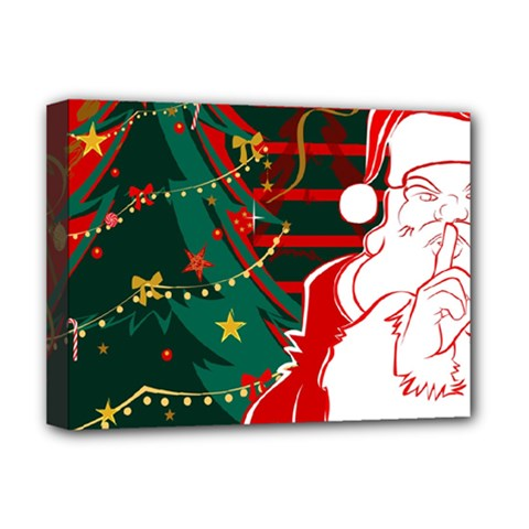 Santa Clause Xmas Deluxe Canvas 16  x 12
