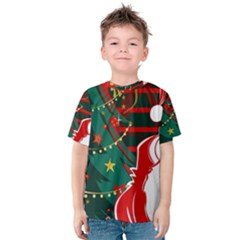 Santa Clause Xmas Kids  Cotton Tee