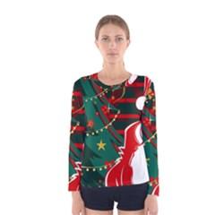 Santa Clause Xmas Women s Long Sleeve Tee