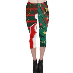 Santa Clause Xmas Capri Leggings