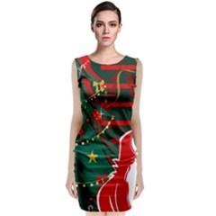 Santa Clause Xmas Classic Sleeveless Midi Dress