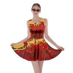 Santa Christmas Claus Winter Skater Dress