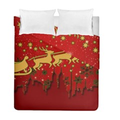 Santa Christmas Claus Winter Duvet Cover Double Side (Full/ Double Size)