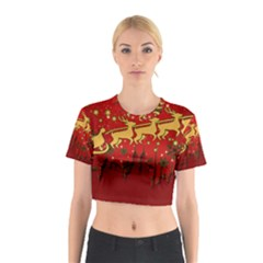 Santa Christmas Claus Winter Cotton Crop Top