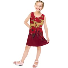 Santa Christmas Claus Winter Kids  Tunic Dress