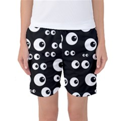 Seamless Eyes Tile Pattern Women s Basketball Shorts