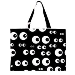 Seamless Eyes Tile Pattern Large Tote Bag