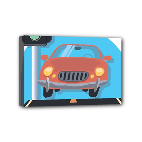 Semaphore Car Road City Traffic Mini Canvas 6  x 4