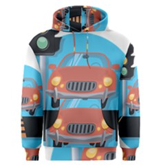 Semaphore Car Road City Traffic Men s Pullover Hoodie