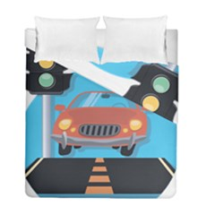 Semaphore Car Road City Traffic Duvet Cover Double Side (Full/ Double Size)