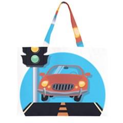 Semaphore Car Road City Traffic Large Tote Bag