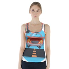 Semaphore Car Road City Traffic Racer Back Sports Top